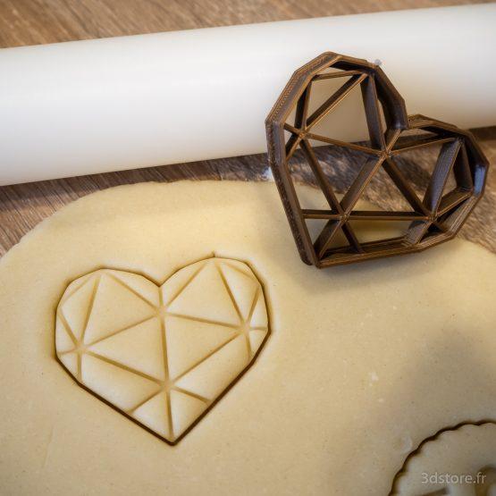 emporte-pièce cœur géométrique