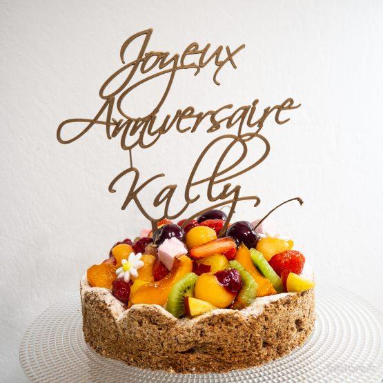 cake topper joyeux anniversaire