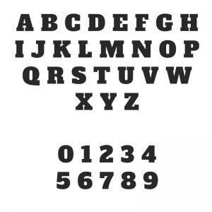 Emporte-pièce - lettres typo 1