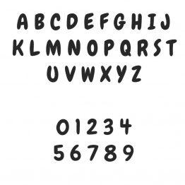 Emporte-pièce - Lettres et chiffres style 2
