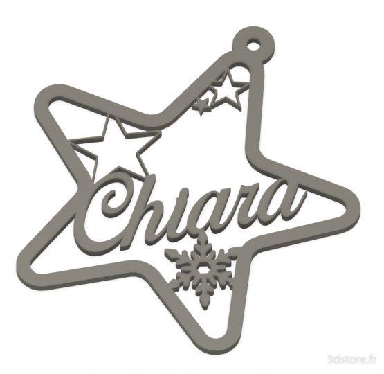 Suspension étoile prénom personnalisable