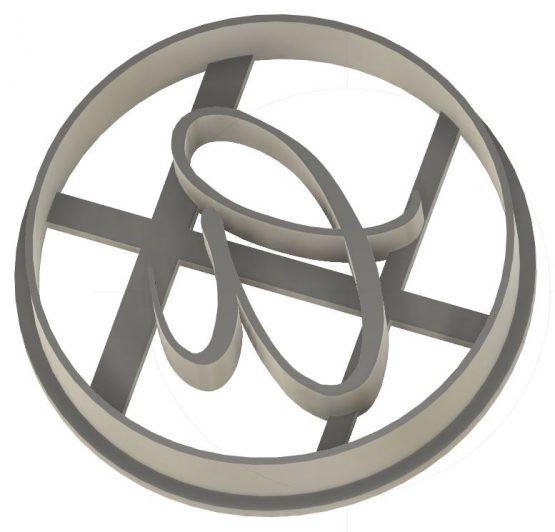 Emporte-pièce - lettre monogramme